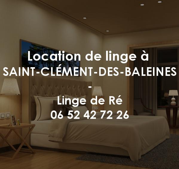 Location de linge à Saint-Clément-des-Baleines